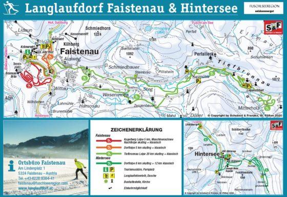 Loipenplan Faistenau-Hintersee